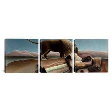 Henri Rousseau Sleeping Gypsy 3 Piece on Wrapped Canvas Set