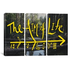 Leah Flores Aim of Life 3 Piece on Wrapped Canvas Set