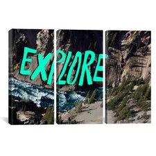 Leah Flores Explore River 3 Piece on Wrapped Canvas Set