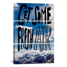 Leah Flores Fresh Air II 3 Piece on Wrapped Canvas Set