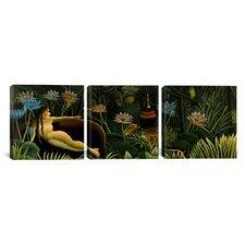 Henri Rousseau The Dream 3 Piece on Wrapped Canvas Set