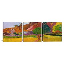 Paul Gauguin Tahitian Landscape 3 Piece Painting Print on Wrapped Canvas Set