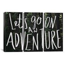 Leah Flores Let's Go On An Adventure 3 Piece on Wrapped Canvas Set