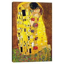 """The Kiss"" by Gustav Klimt Painting Print on Wrapped Canvas"