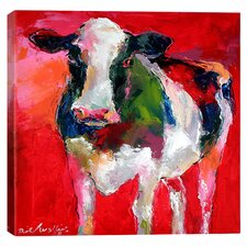 """Cow"" by Richard Wallich Graphic Art on Wrapped Canvas"