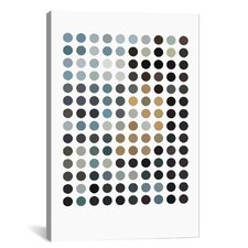 Modern Art Earthy Dots Graphic Art on Canvas