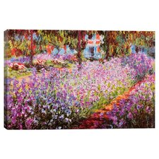 'Jardin De Giverny' by Claude Monet Painting Print on Wrapped Canvas