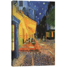 """The Cafe Terrace on the Place du Forum, Arles, at Night 1888"" by Vincent Van Gogh Painting Print on Canvas"