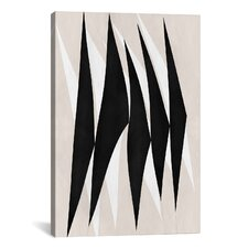 Modern Zebra Tribal Paint Graphic Art on Wrapped Canvas