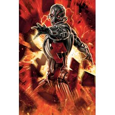 Marvel Comics Ultron In Action Graphic Art on Canvas