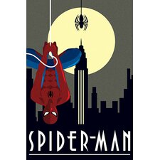 Spider-Man Minimalistic by Marvel Comics Graphic Art on Canvas