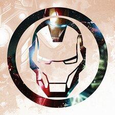 Marvel Comics Iron's Man Symbol Graphic Art on Canvas