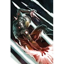 Marvel Comics War Machine Attack, Movie Graphic Art on Canvas