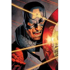Marvel Comics Captain America Vs Hydra Soldiers Graphic Art on Canvas