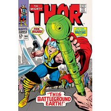 Marvel Comics The Mighty Thor, Issue #144 Cover Vintage Advertisement on Canvas