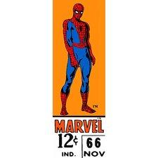 Marvel Comics Spider-Man Price Tag Panoramic Vintage Advertisement on Canvas