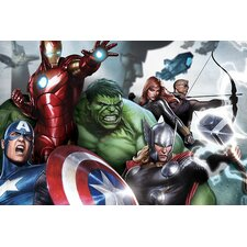 Marvel Comics The Avengers and Loki, Close-Up Graphic Art on Canvas
