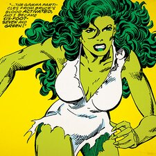 Marvel Comics She-Hulk: I Became Six-Foot-Seven and Green! Comic Book Graphic Art on Canvas