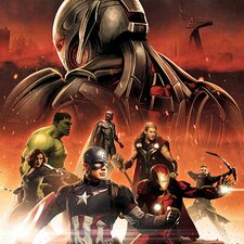 Ultron, Vision and Avengers, Movie Graphic Art on Canvas