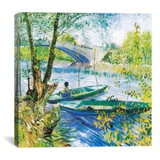 """Fishermen and Boats in the Pont de Clichy"" Canvas Wall Art by Vincent van Gogh"