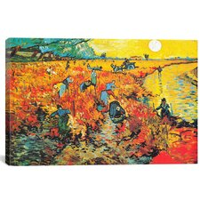 'The Red Vineyard At Arles' by Vincent Van Gogh Painting Print on Canvas