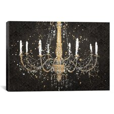 'Grand Chandelier Black I' by James Wiens Painting Print on Canvas