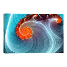 Digital Blue Lagoon Graphic Art on Canvas