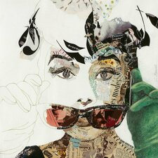 'Audrey' by Ines Kouidis Graphic Art on Wrapped Canvas