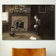 'The Magic Foorball' by Norman Rockwell Painting Print on Wrapped Canvas