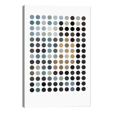 Modern Earthy Dots Graphic Art on Wrapped Canvas