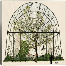 'The Aviary Canvas' by Norman Rockwell Painting Print on Wrapped Canvas
