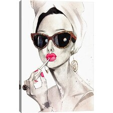Audrey Hepburn by Rongrong DeVoe Painting Print on Canvas