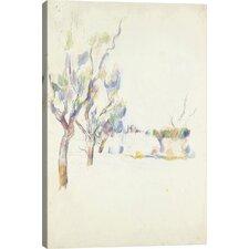 'Amandiers En Provence (Allee Du Jas De Bouffan) 1900' by Paul Cezanne Painting Print on Canvas