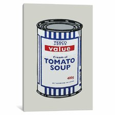 Tesco Tomato Soup Can by Banksy Graphic Art on Wrapped Canvas