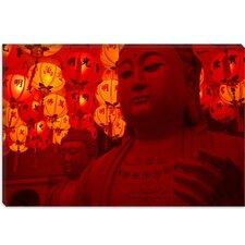 Photography Buddha Statue Photographic Print on Canvas