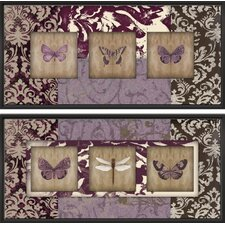 Wings on Paisley Indoor by Studio 5 2 Piece Framed Graphic Art on Canvas Set