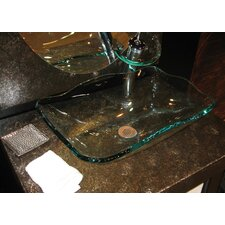 Oblong Glass Vessel Bathroom Sink