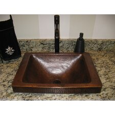 Santa Cruz Copper Bathroom Sink and Strainer Drain