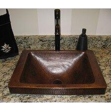Santa Cruz Copper Drop-In Bathroom Sink
