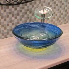 Mare Glass Vessel Bathroom Sink