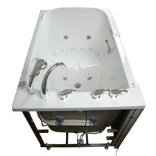 Bariatric Seat Air and Hydro Massage Whirlpool Walk-In Tub