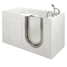 """52"""" x 28"""" Petite Massage Whirlpool Walk In Tub"""