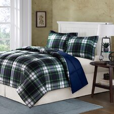 Parkston Mini Comforter Set in Navy & Plaid