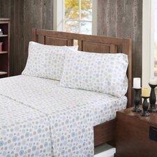 160 Thread Count 100% Cotton Flurries Flannel Sheet Set