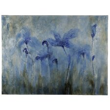 Flowers Original Painting on Wrapped Canvas