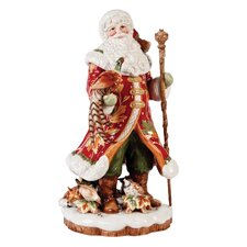 Bountiful Holiday Santa Figurine with Pheasant