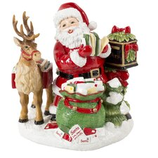 Letters to Santa Musical Tune with Jingle Bells Figurine
