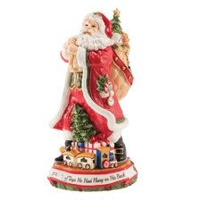 """Night Before Christmas Figurine with """"Deck the Halls"""""""