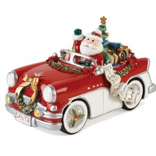 Merry And Bright Santa Holiday Musical Figurine