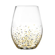 Confetti 20 oz. Stemless Glass (Set of 4)